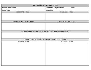 Lesson Plan Template - Georgia Teacher Keys - Landscape