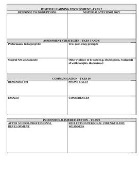Lesson Plan Template - Georgia Teacher Keys - Portrait
