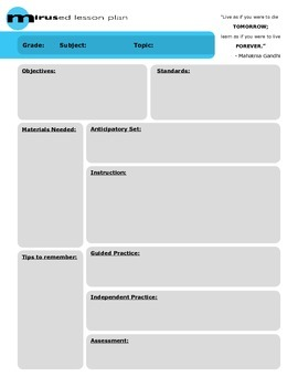 Lesson Plan Template - Ghandi