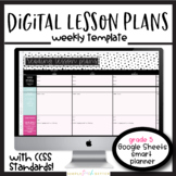 Editable Weekly Lesson Plan Template 5th Grade