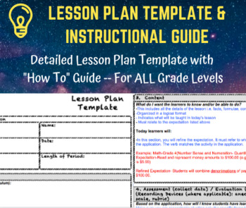 Lesson Plan Template & How to Guide with Examples/Instructions- EDITABLE