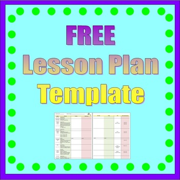 Lesson Plan Template *Free*