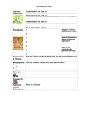 Lesson Plan Template (Instructional Planning Form)