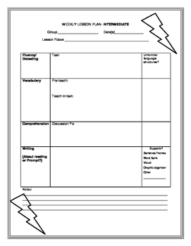 Lesson Plan Template- Intermediate