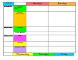 Lesson Plan Template - Kindergarten