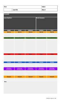 Lesson Plan Template (Microsoft Word Version)