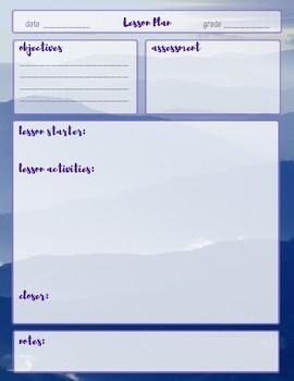 Lesson Plan Template-Mountain Theme