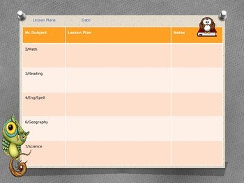 Lesson Plan Template - Owls