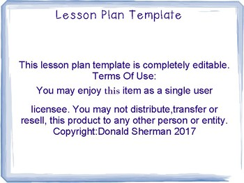Lesson Plan Template PDF