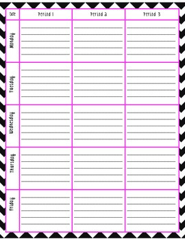 Lesson Plan Template- Periods