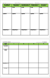 Lesson Plan Template ~ Plan by the week or Plan for the year