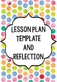 Lesson Plan Template Plus Lesson Reflection