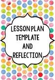 Lesson Plan Template Plus Lesson Reflection