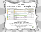 Lesson Plan Templates Editable (Primary Level)