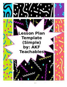 Lesson Plan Template - SIMPLE