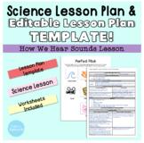Lesson Plan Template & Science Lesson Bundle