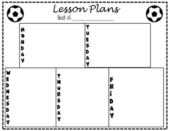 Lesson Plan Template - Soccer