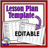 Lesson Plan Templates - Editable Standards Based