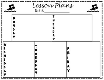 Lesson Plan Template - Swimming