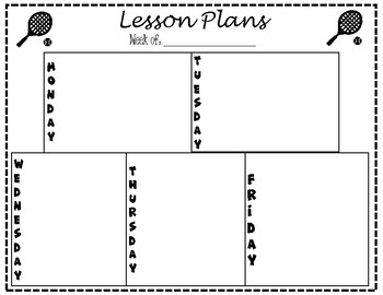 Lesson Plan Template - Tennis