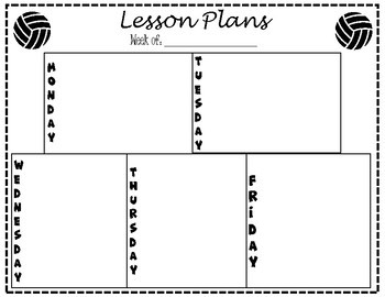 Lesson Plan Template - Volleyball