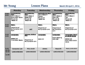 Lesson Plan Template WORD FORMAT