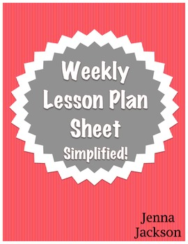 Lesson Plan Template (Weekly View)