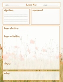 Lesson Plan Template-Wildflower Theme