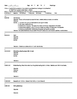 Lesson Plan Template- Word