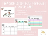 Lesson Plan Template and Cover Page (great for GANAG format)
