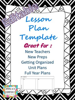 Editable Lesson Plan Template for Teachers