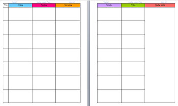 Lesson Plan Template For Binders Free By Happy Business Teacher - Free weekly lesson plan template