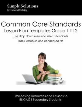 Lesson Plan Template for CCS Grade 11-12 ELA