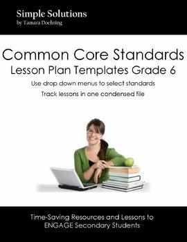 Lesson Plan Template for CCS Grade 6 ELA