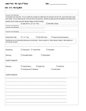 Lesson Plan Template for Common Core