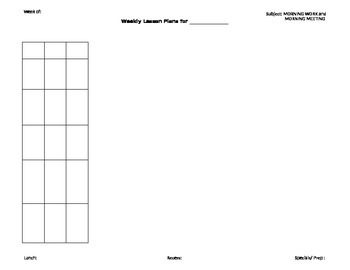 Lesson Plan Template for Elementary Grades