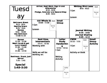 Lesson Plan Template for Elementary Students
