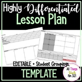 Lesson Plan Template for Highlighting Differentiation