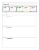 Lesson Plan Template for Library or Special Area Classes