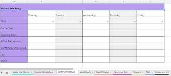 Lesson Plan Template w/ Drop-down 2nd Grade TEKS {EDITABLE}