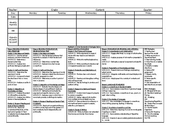 Lesson Plan Template with ELA Standards and ESE/ESOL Strategies