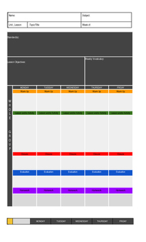 Lesson Plan Template with Whole Group Small Group Planning