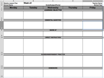Lesson Plan Template with Workgroups