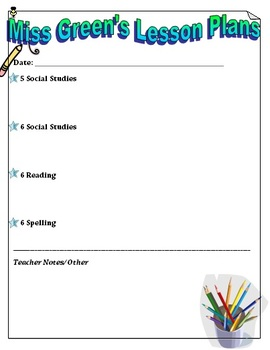 Lesson Plan Template/Organizer