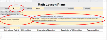 Lesson Plan Templates. Grades K-5. Drop-down GSE. Reg. & SpEd. It's Awesome!
