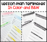 Lesson Plan Templates Bundle