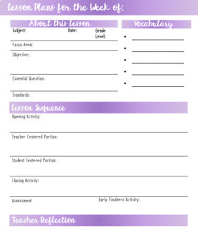 Lesson Plan Templates Bundle