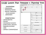 3rd Lesson Plan Templates CCSS, COMPASS / Danielson Math,