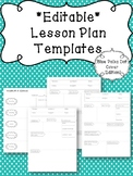 Lesson Plan Templates EDITABLE- Blue Polka Dot