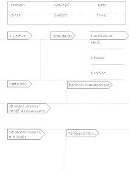 Lesson Plan Templates EDITABLE- Blue Polka Dot